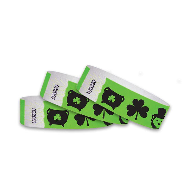 3/4  St Patrick's Day Icons Wristbands