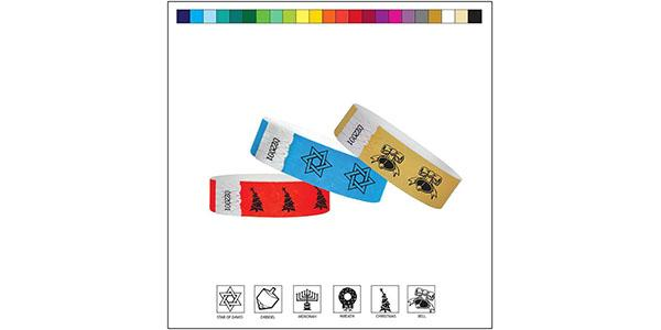 3/4 Tyvek Holiday Wristbands