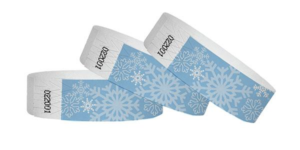 3/4 Tyvek Wristband Snow Flake