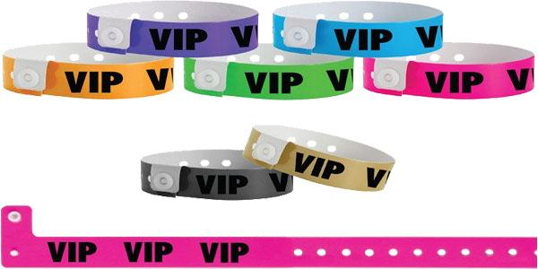Vinyl Wristband Solid Colors VIP