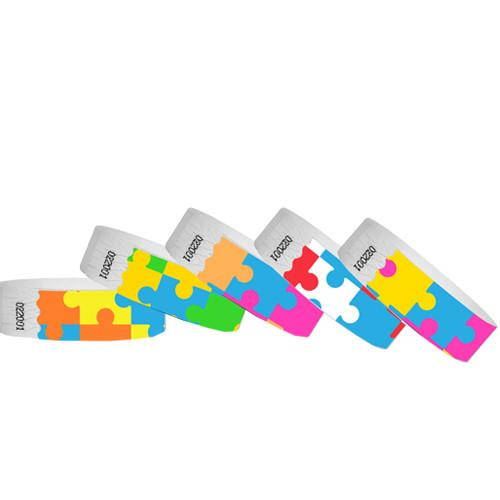 Puzzle Tyvek Wristbands