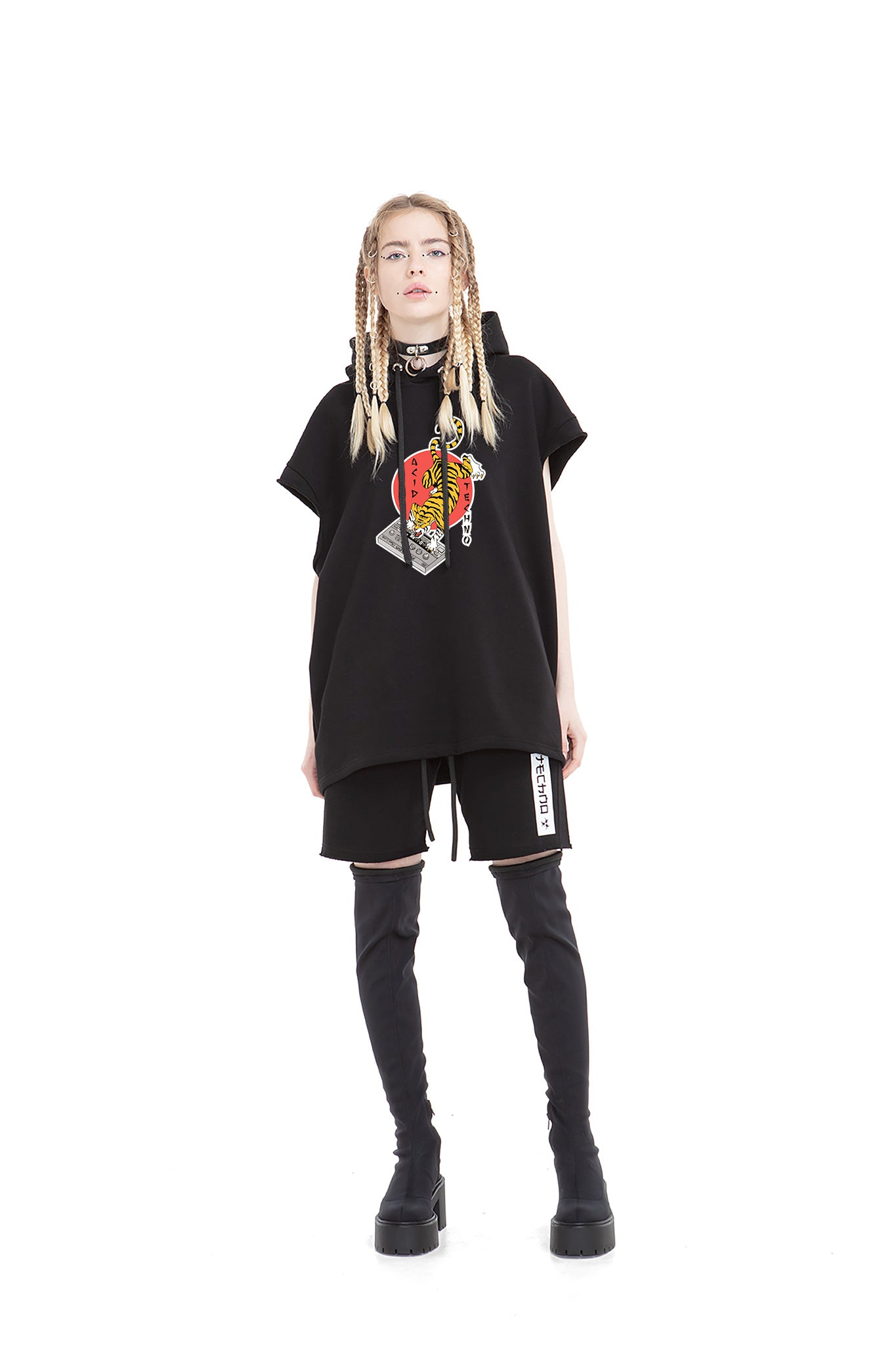 Acid Tiger Unisex Hooded Vest