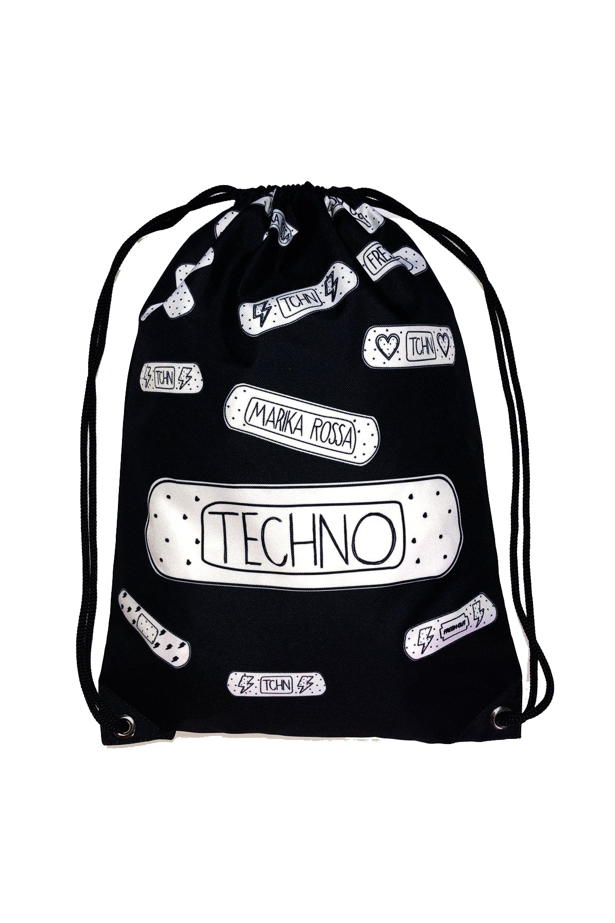 Techno Bandaids Backpacks [Black]