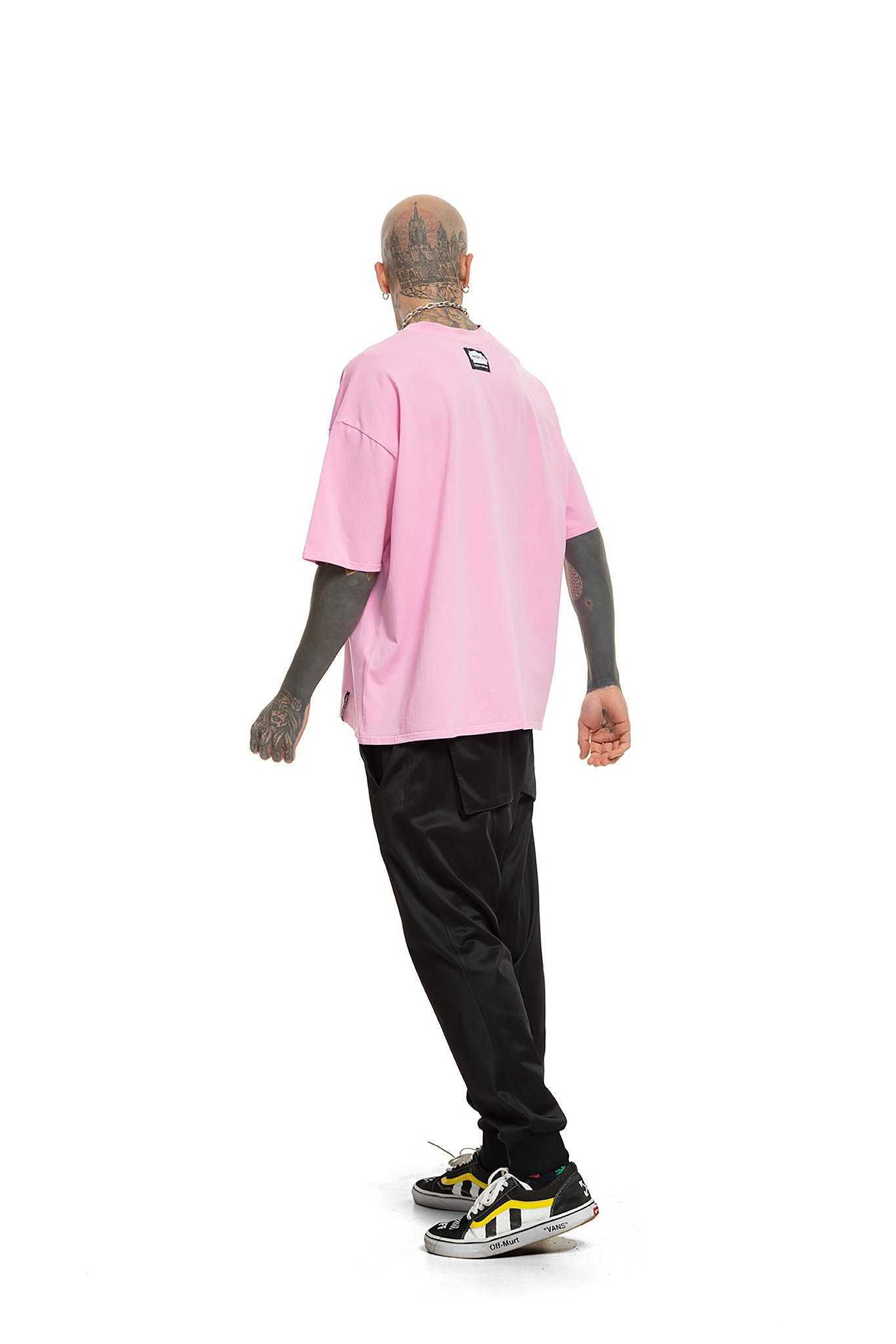Acid Tiger [Pink] Unisex Oversized T-shirt