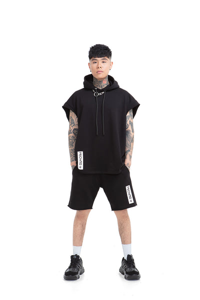 Techno Relaxed unisex shorts