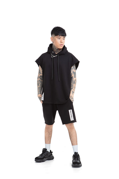 Techno Relaxed Unisex Hooded Vest