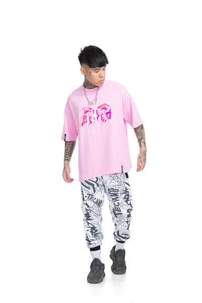 Bored Super Oversized Unisex T-shirt [Pink]