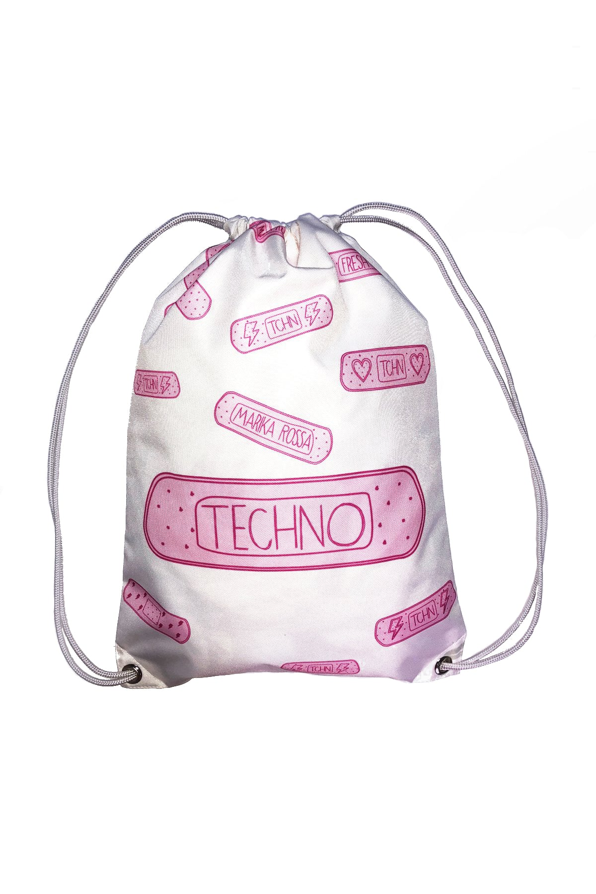 Techno Bandaids Backpacks [White]