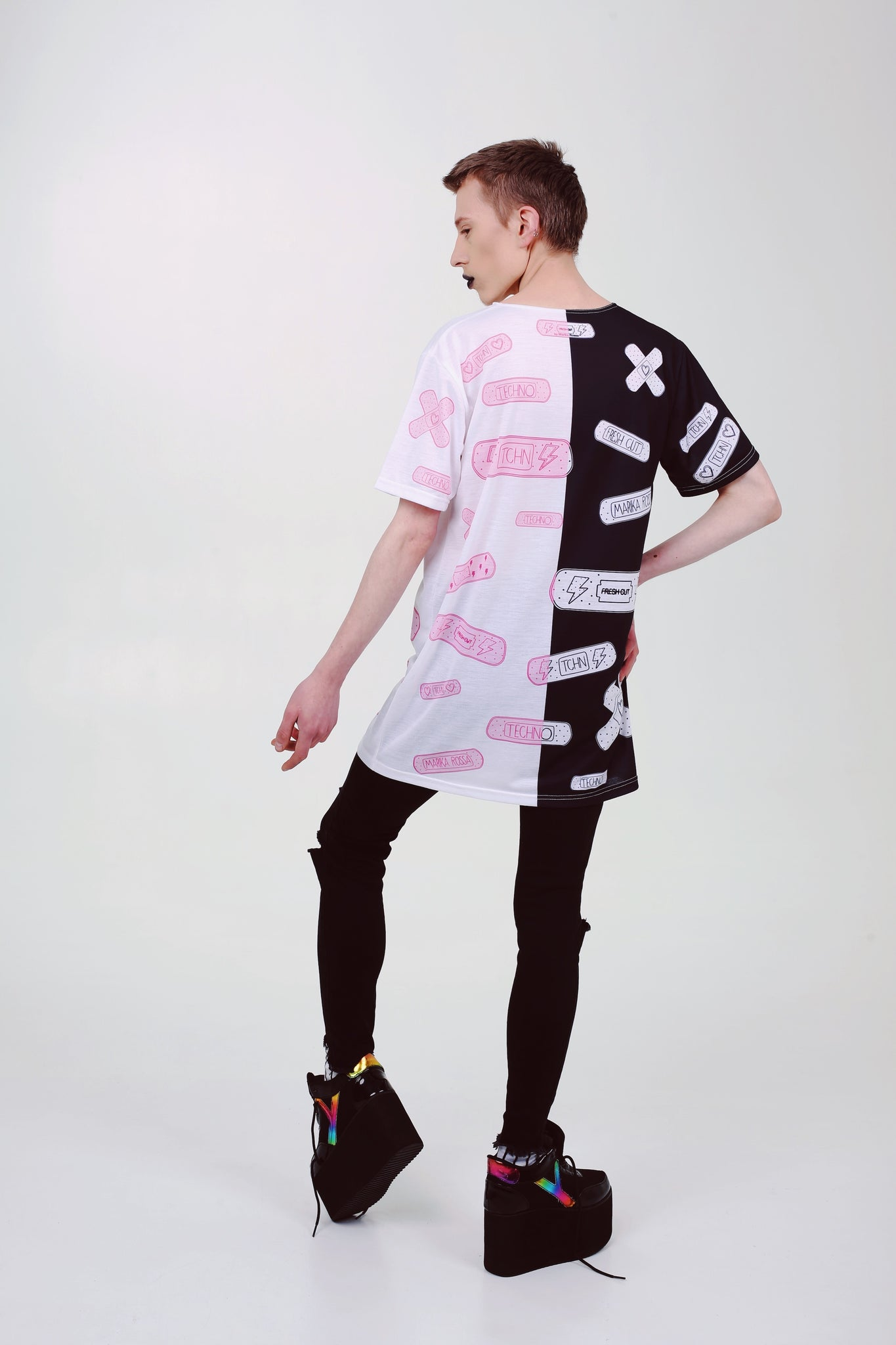 Split Personality - oversized T-shirt