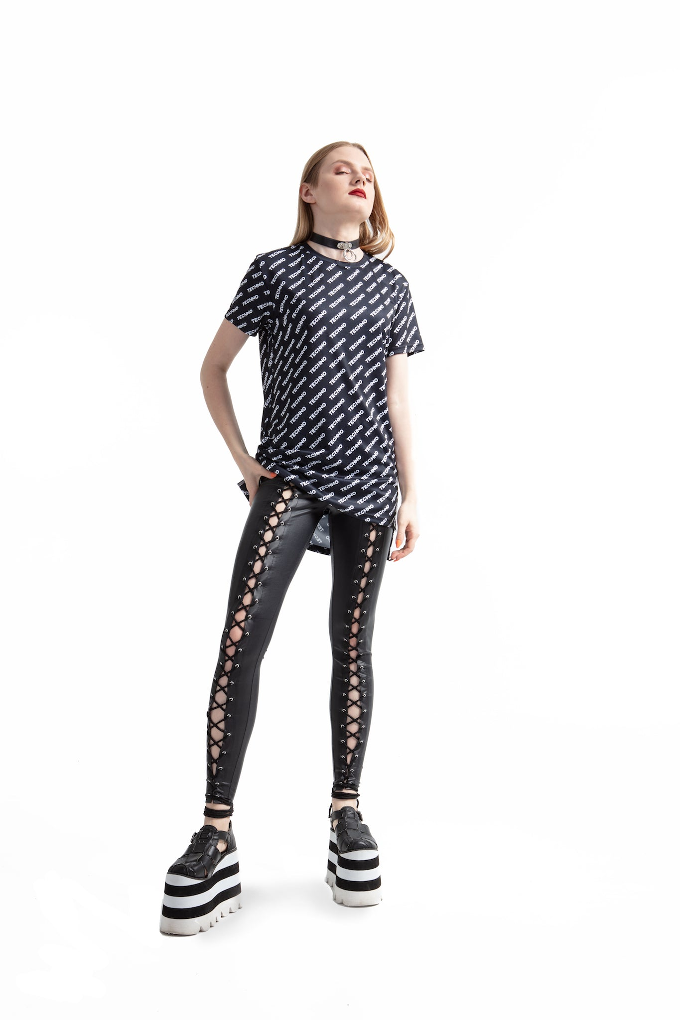 Techno - regular fit T-shirt with side cuts