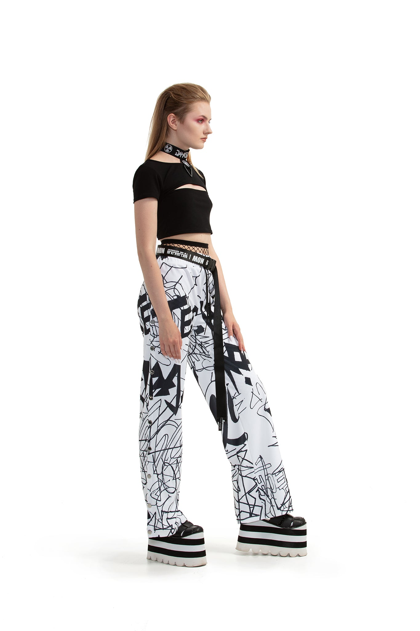 Graffiti - Side-snapped trousers