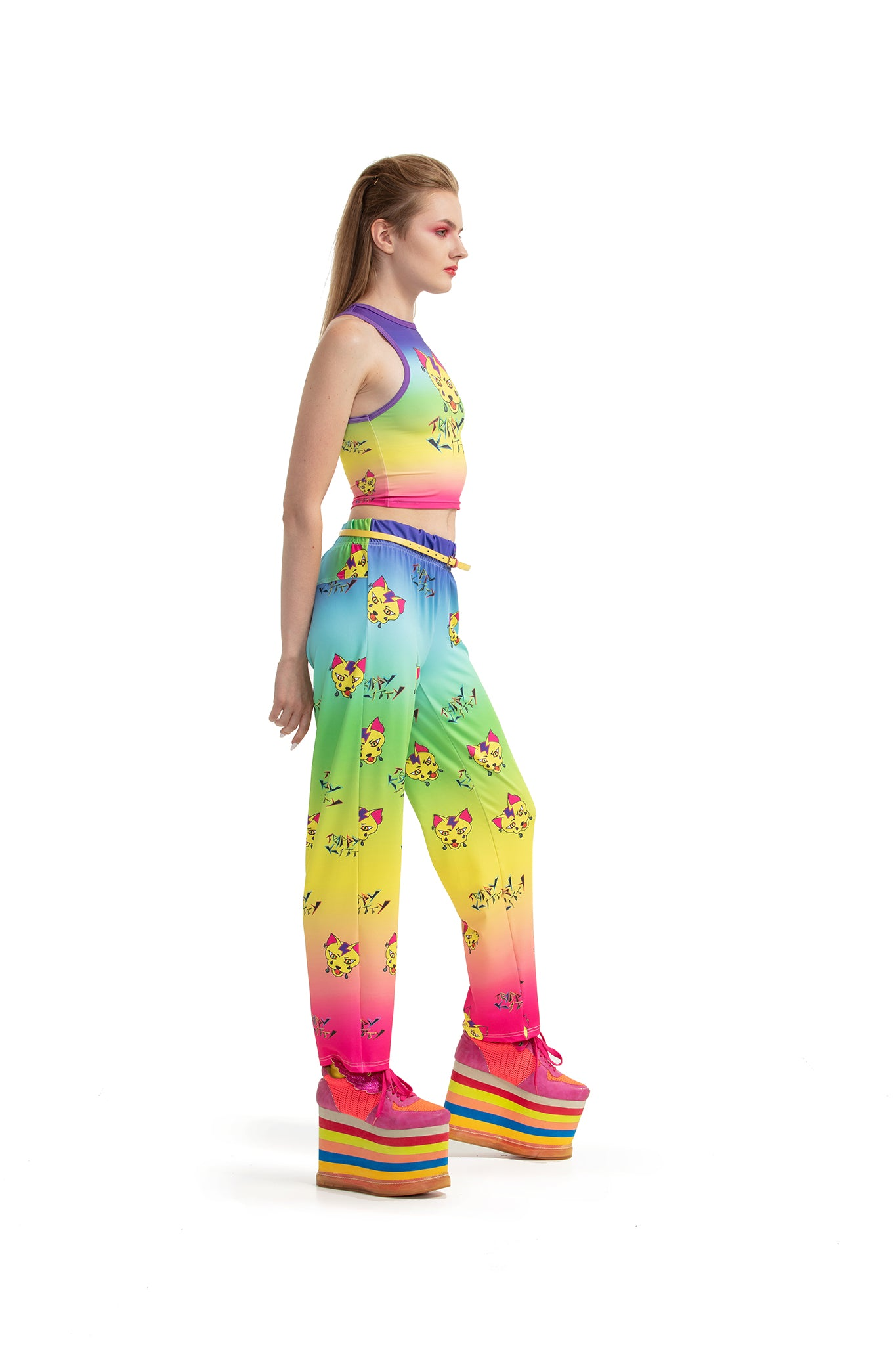 Trippy Kitty - Ankle-length trousers