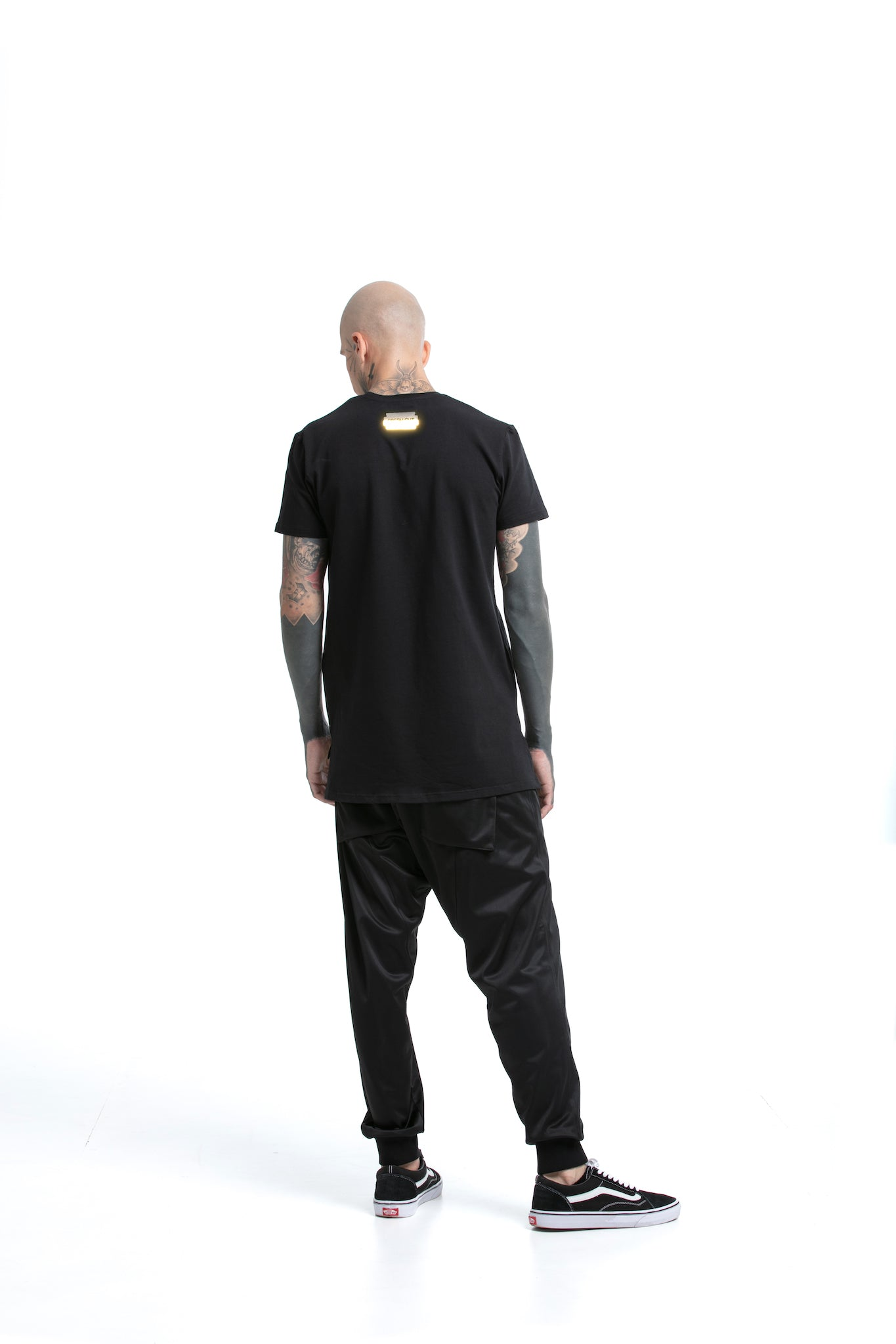 Reflective Techno - regular fit T-shirt with side cuts