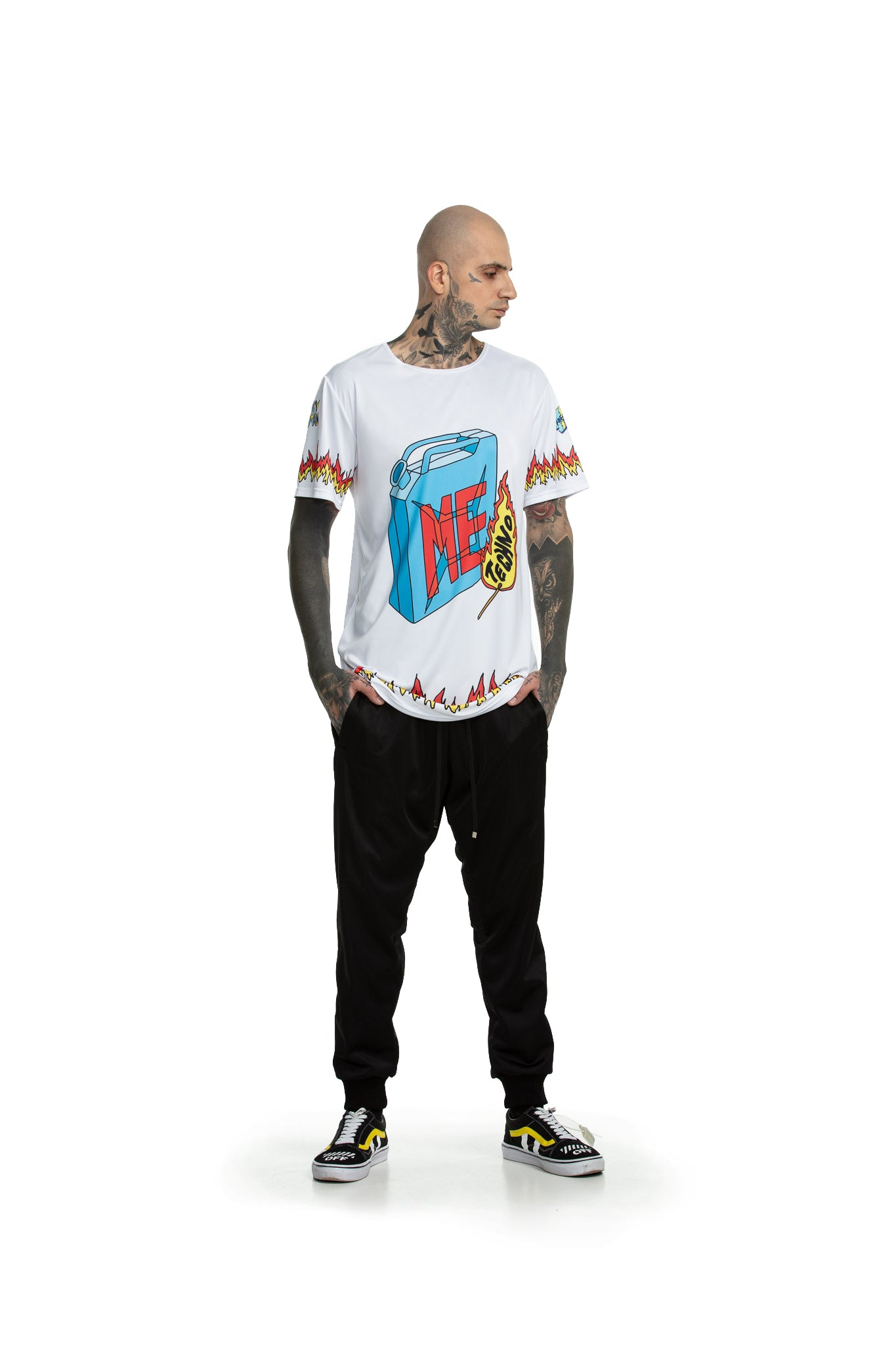 Techno Fuel [white] - oversized T-shirt