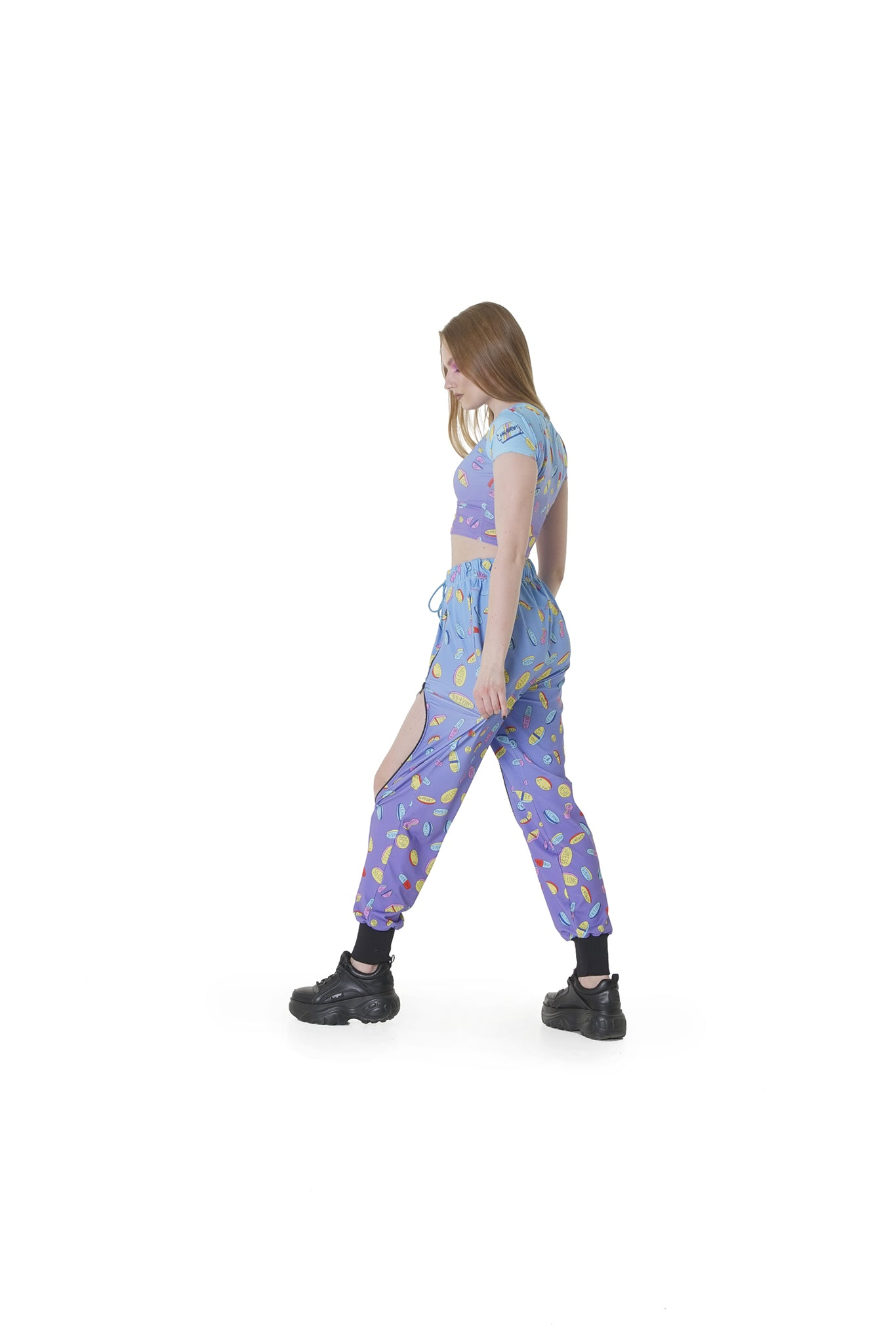 Pills Purple melt - ZIP-up trousers