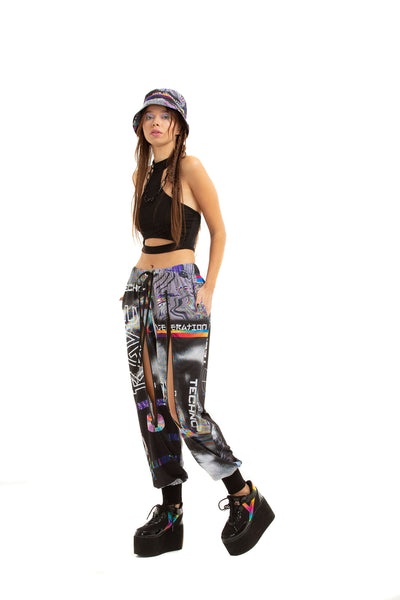RAVE TV ZIP - up trousers