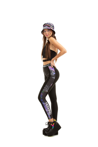 RAVE TV leggings with printed side-stripes