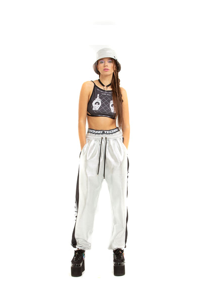 Double-waisted joggers [silver]