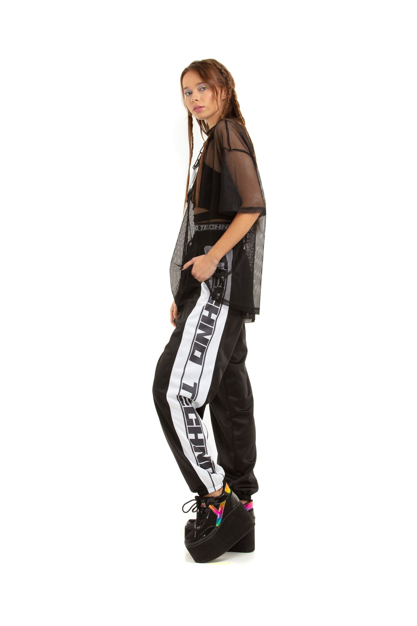 Double-waisted joggers [black]