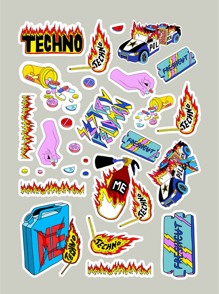 Fire stickers set 2