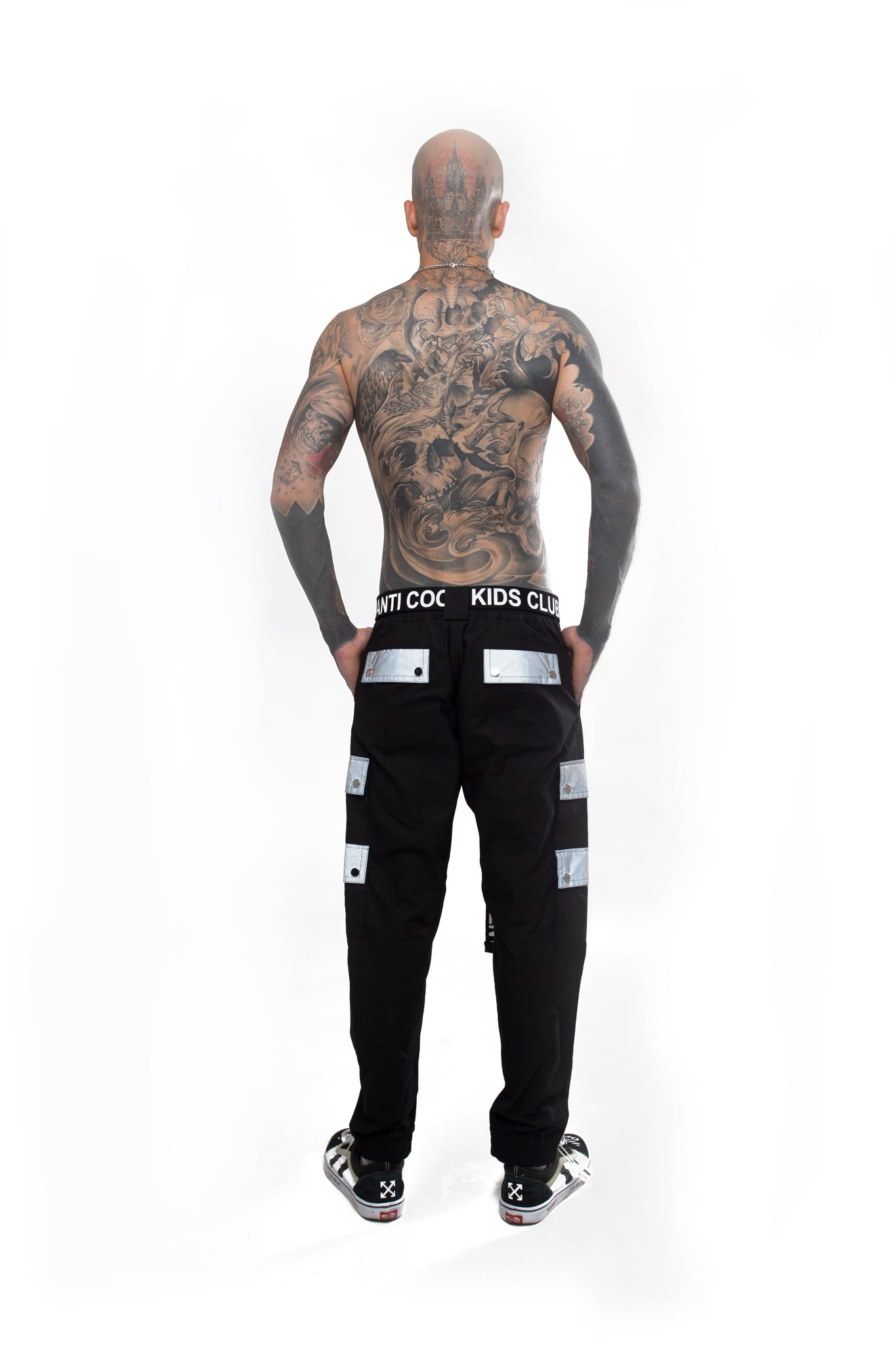 Male Cargo Pants with Reflective Pockets