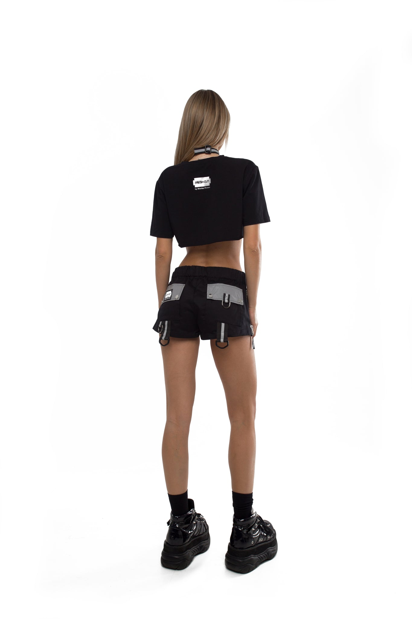 Need For Techno Reflective Cropped Top