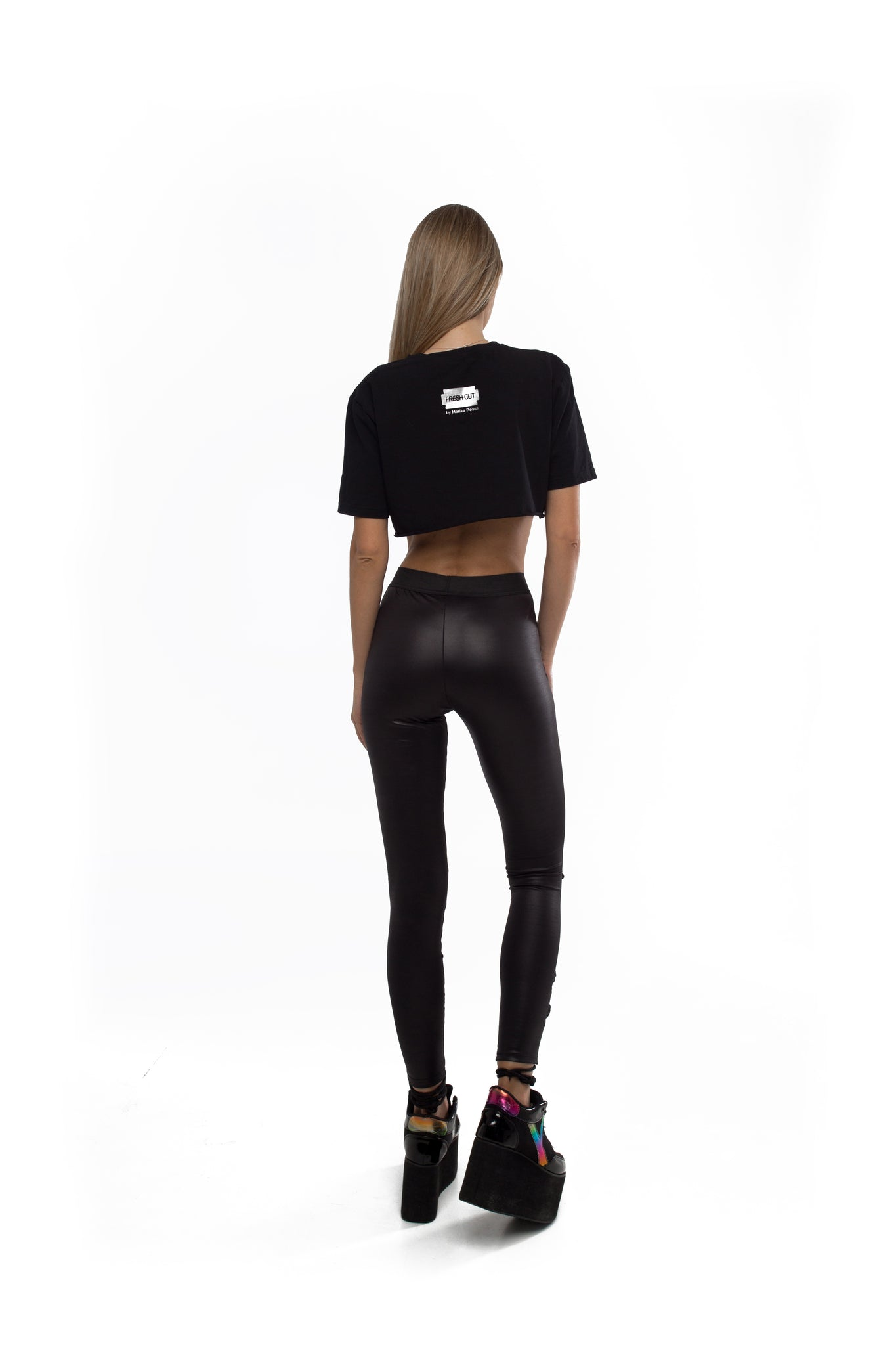 Lace up leggings (Black)