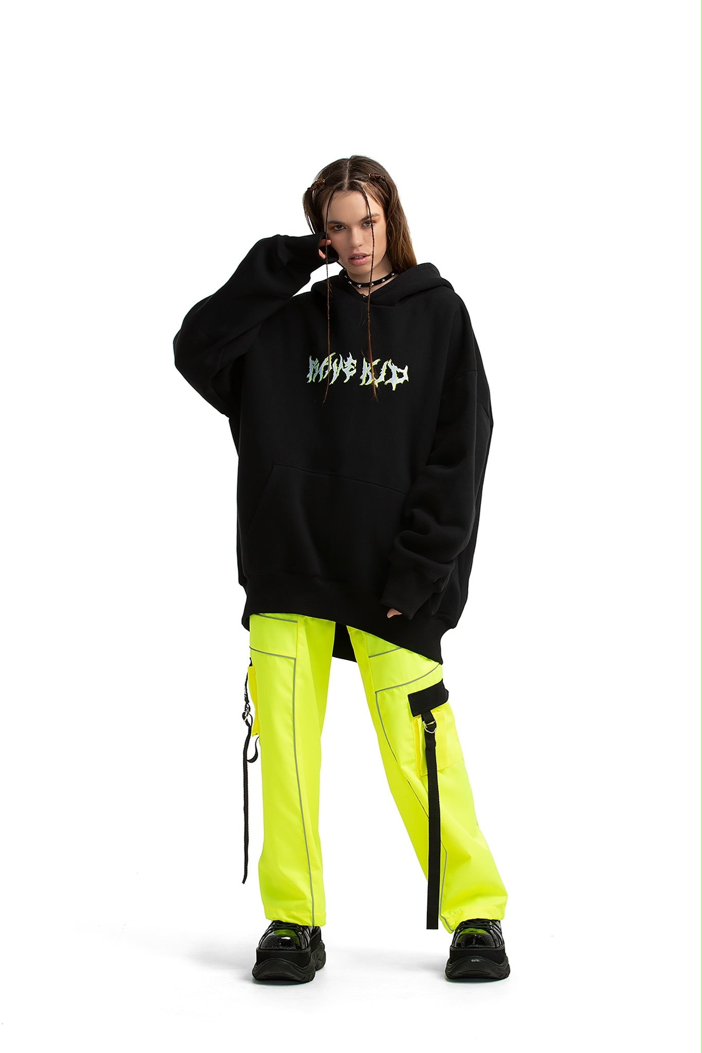 Rave Kid Super oversized hoodie [Black]