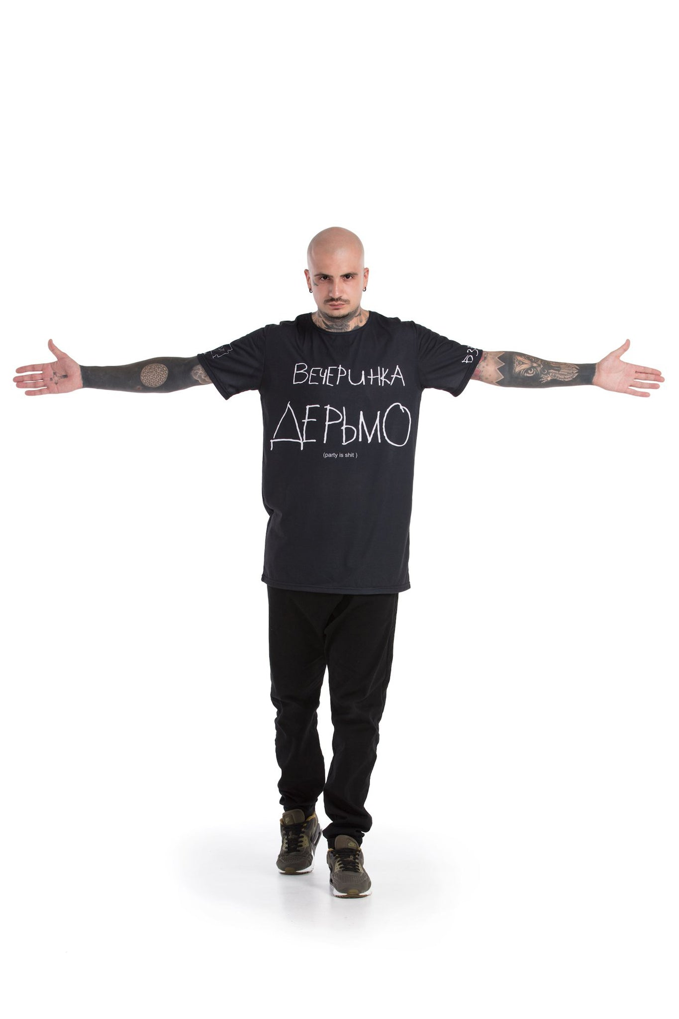 Вечеринка Дерьмо / Без Техно. - oversized T-shirt [Black]