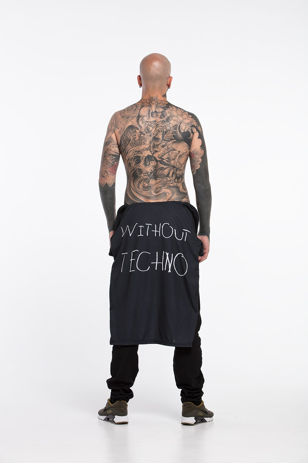 Party is Shit / Without Techno. - oversized T-shirt [Black]