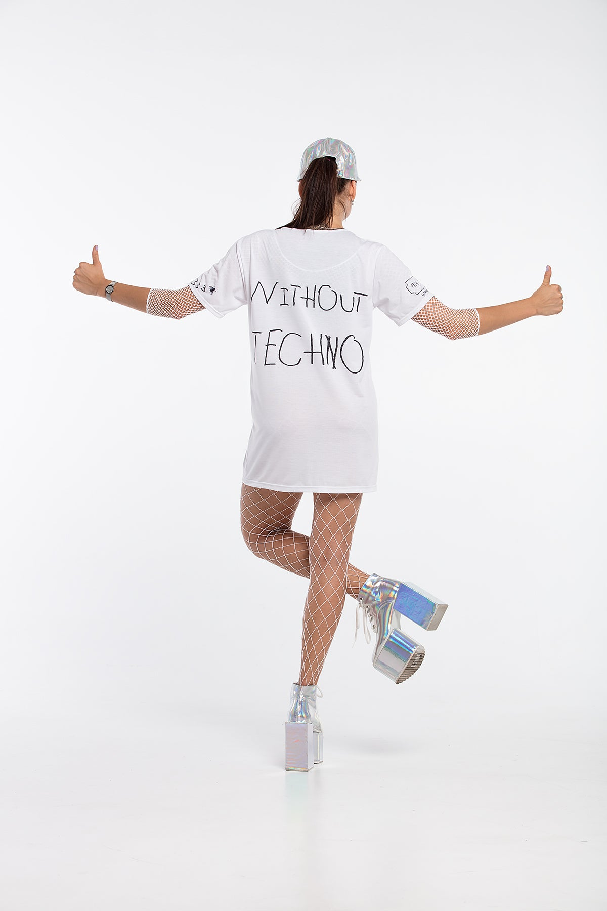 Party is Shit / Without Techno. - oversized T-shirt [White]