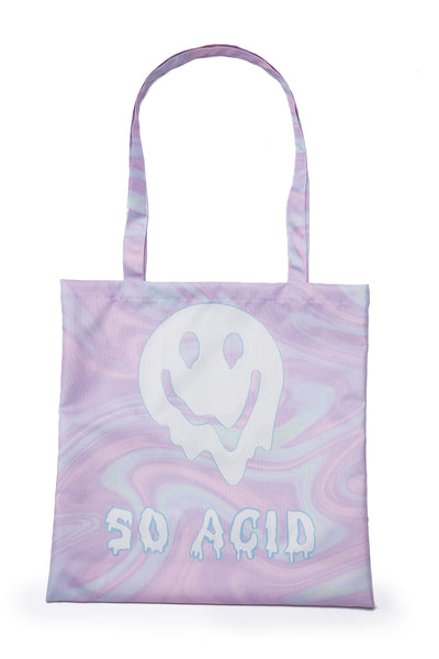 So Acid Vinyl shopping bags