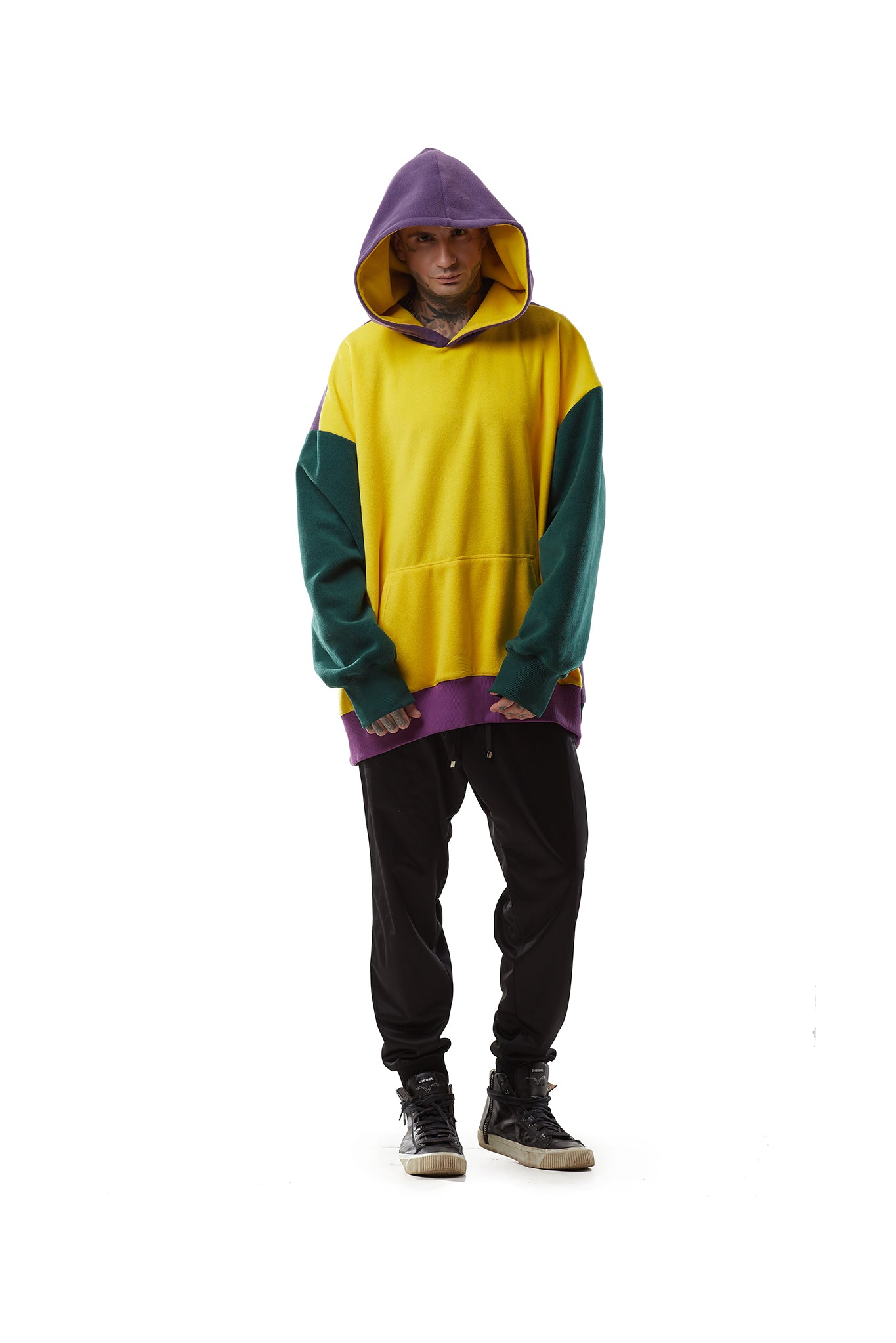 Fleece Multicolored Super Oversized Hoodie
