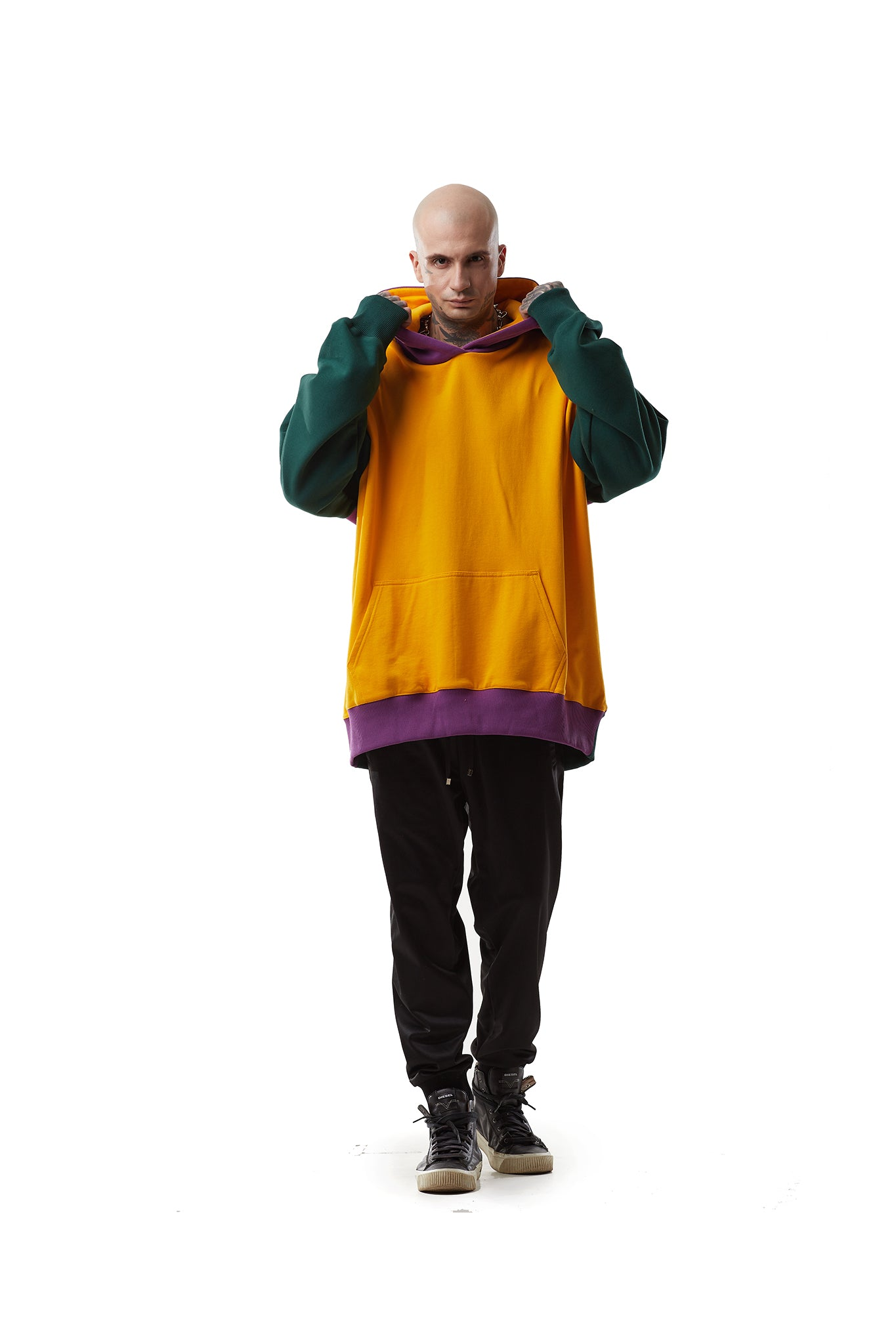 Multicolored Super Oversized Hoodie