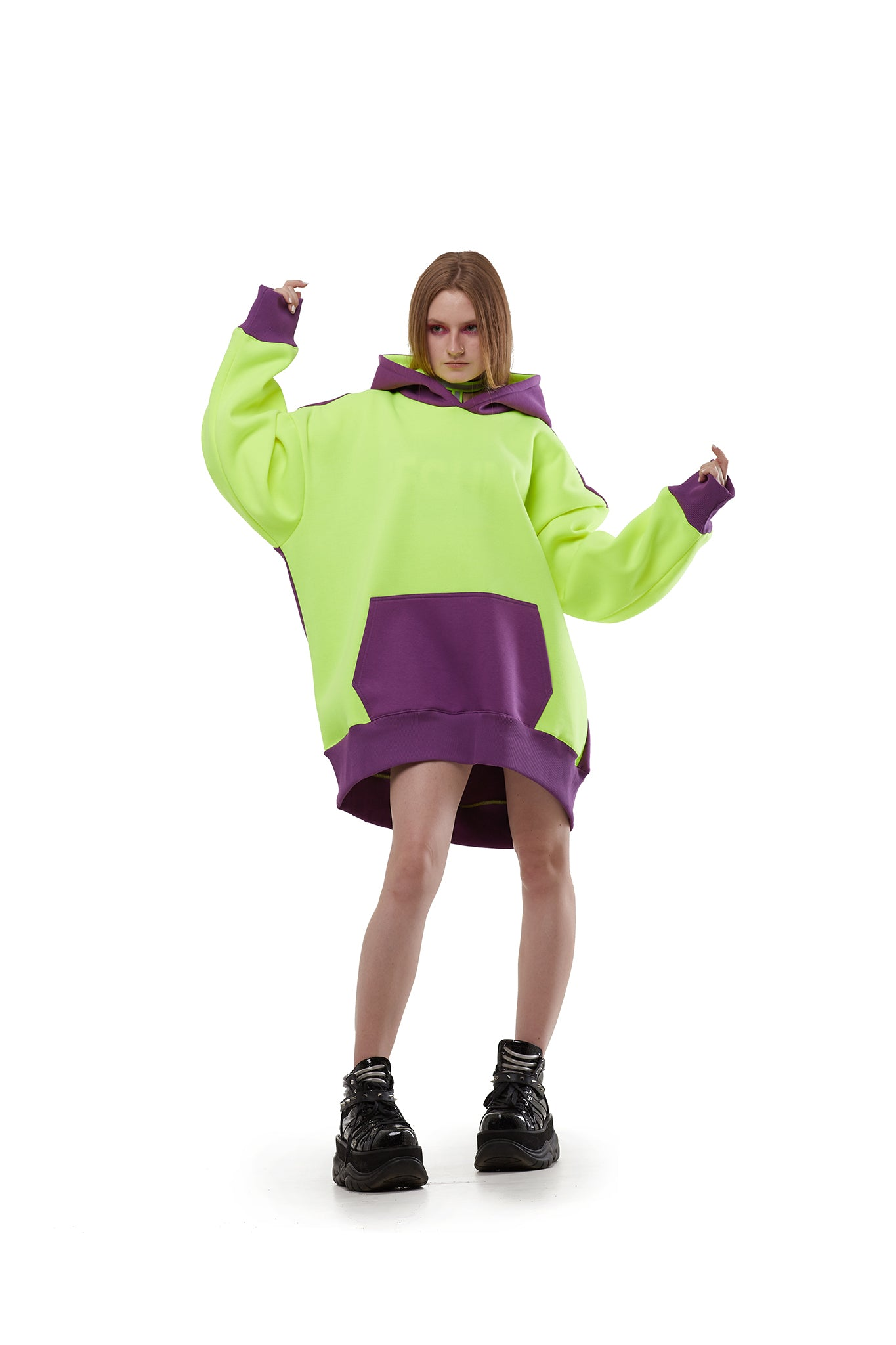 Super oversized hoodie [Neon yellow] Sweatshirts