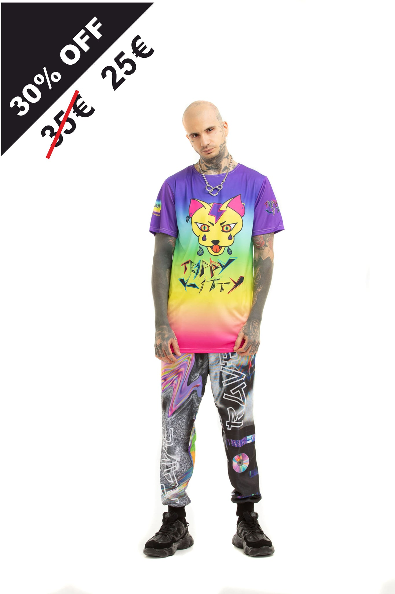 Trippy Kitty - oversized T-shirt
