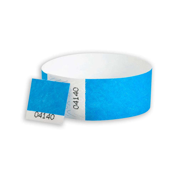 "1""  Dual Numbered Tyvek Wristbands"