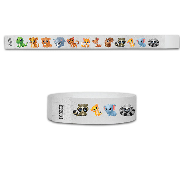 3/4 Baby Animals Multi-Color Wristbands
