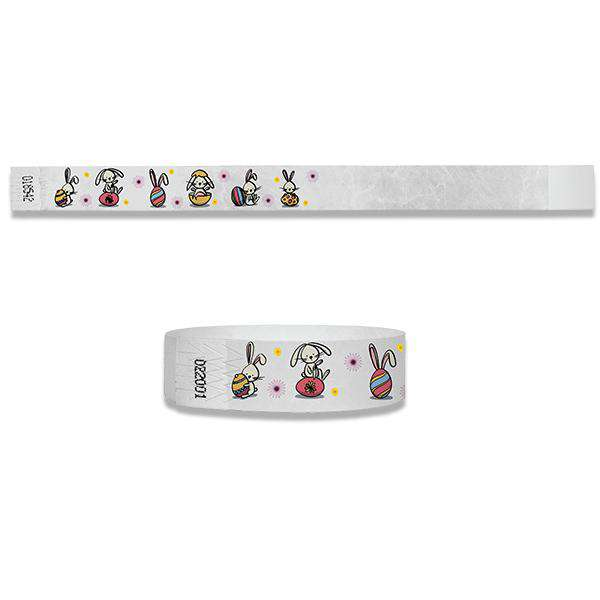3/4  Easter Bunny Full Color Wristbands
