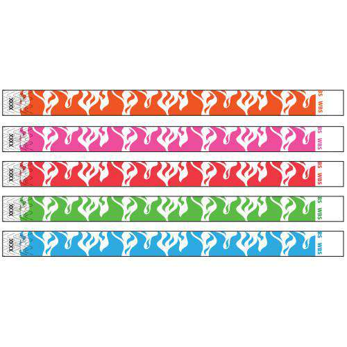 3/4 Tyvek Wristband Design Flame Fire