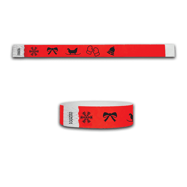 3/4 Holiday Time Tyvek  Wristbands