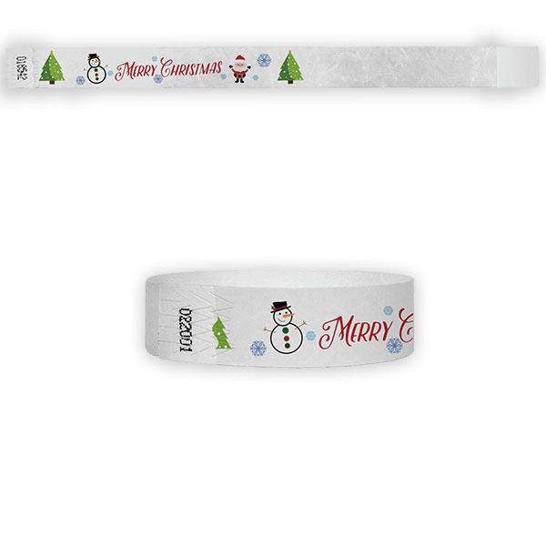 "3/4"" Merry Christmas Tyvek Wristbands"