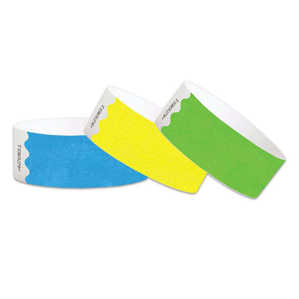 "Custom 1"" Tyvek  Solid Color Wristband"