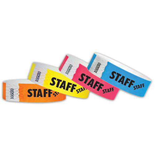"3/4""  Tyvek Staff  Wristbands"