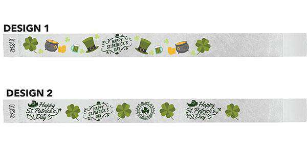 3/4 Wristbands St Paddys Full Color 500 Pack