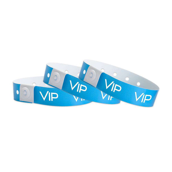 Blue Vip Plastic Wristbands Design