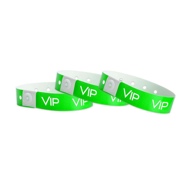 Green Vip Plastic Wristbands Design