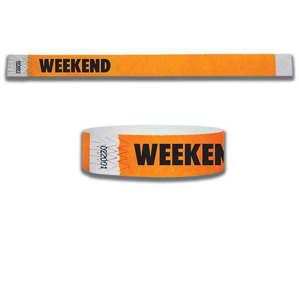 3/4  Weekend Tyvek Wristbands