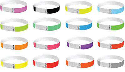 Custom 1/2 Tyvek Wristbands Solid Colors