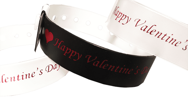 Vinyl Wristband Happy Valentines Day 500 box